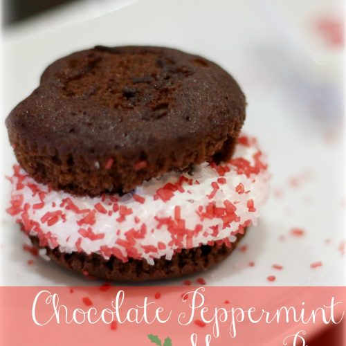 Chocolate Peppermint Moon Pies