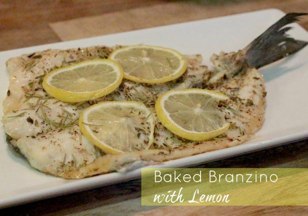 Baked Branzino with Lemon