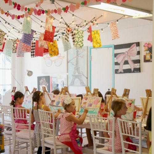 Pinkilicious Painting Party
