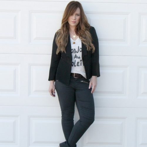 Jeans + Tee + Blazer make Three