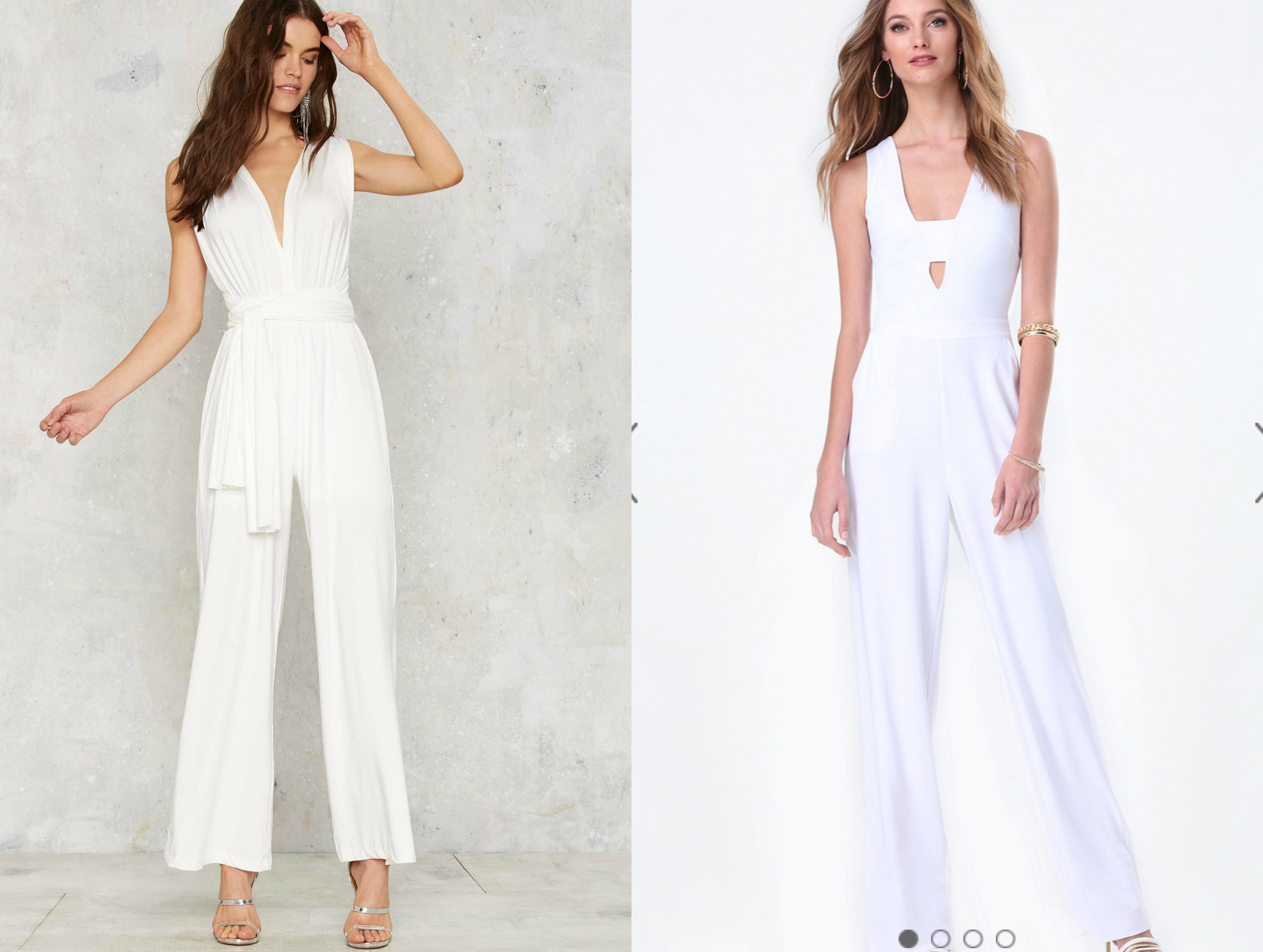 White Jumpsuit Collage