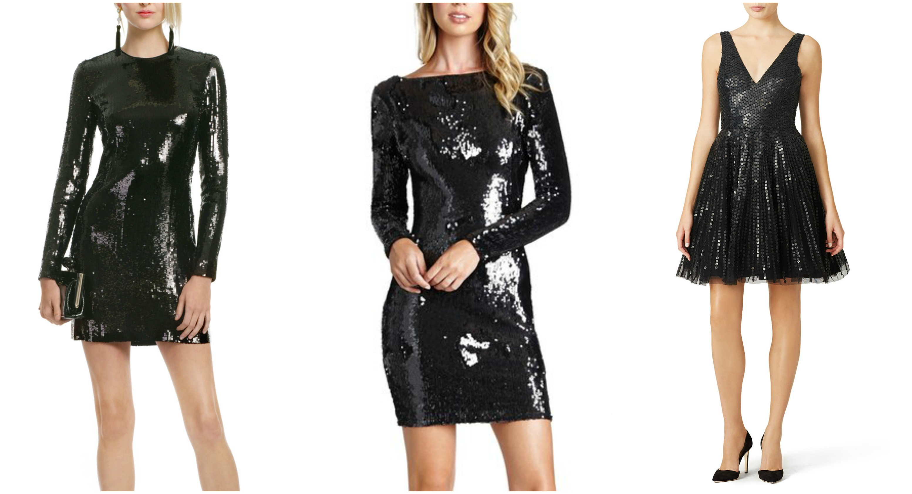 Black Sequin dresses
