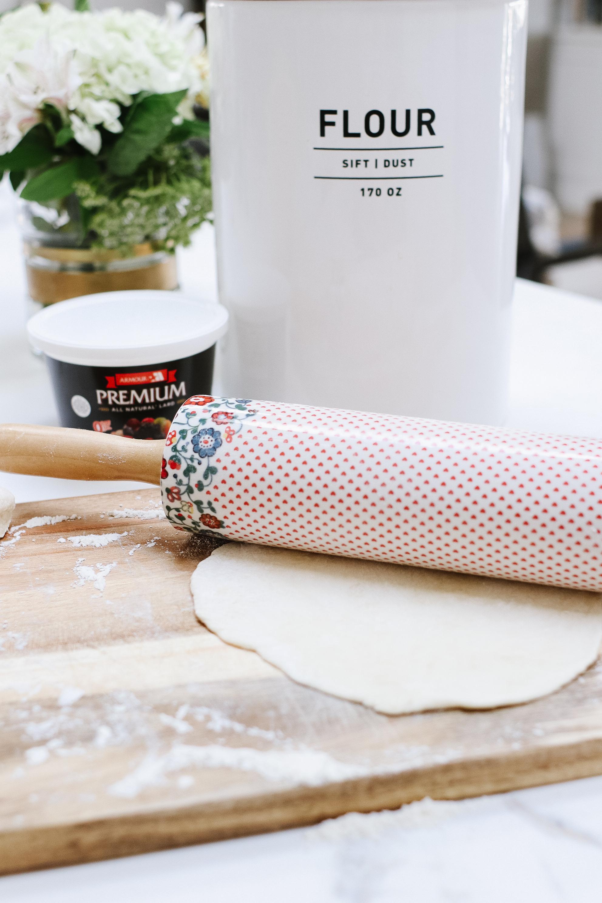 roll dough for tortillas